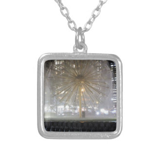 New York City Fountain Silver Plated Necklace