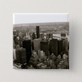 New York City from the Empire State Building 15 Cm Square Badge