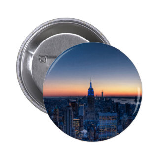 New York City from top of the Rockefeller Centre Buttons