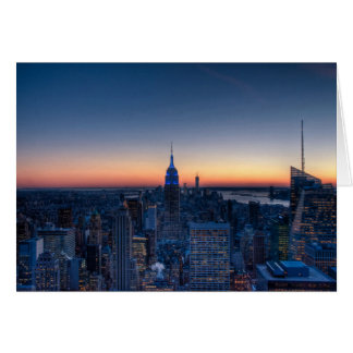 New York City from top of the Rockefeller Centre Greeting Card