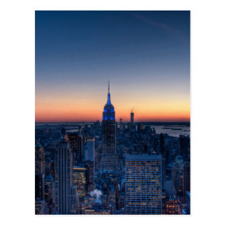New York City from top of the Rockefeller Centre Postcard