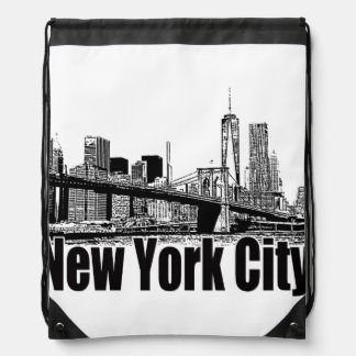 NEW YORK CITY GEAR BY EKLEKTIX DRAWSTRING BAG