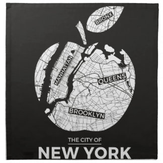New York City gifts, NYC, Brooklyn ,Queens,Bronx Napkin