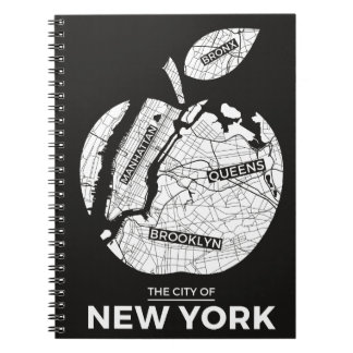 New York City gifts, NYC, Brooklyn ,Queens,Bronx Spiral Notebook