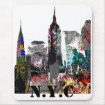 New York City graffiti skyline