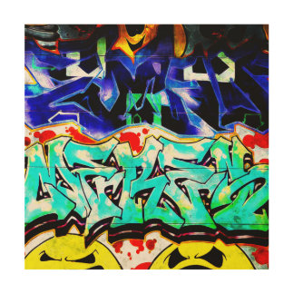 New York City Graffiti Street Art Wood Print