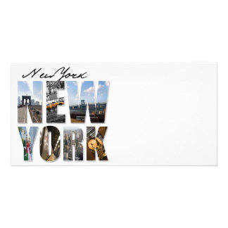 New York City Graphical Tourism Montage Photo Cards