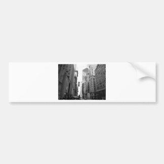 New York City Grayscale Photograph Bumper Sticker