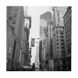 New York City Grayscale Photograph Tile