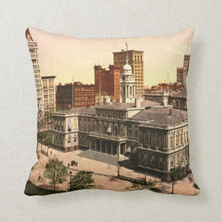 New York City Hall 1900 Cushion
