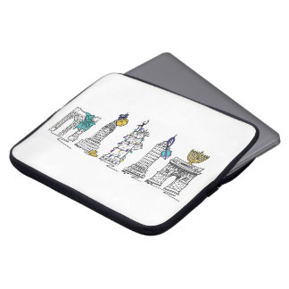New York City Hanukkah NYC Chanukah Landmarks Laptop Sleeve