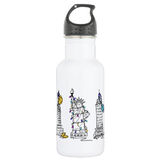 New York City Hanukkah NYC Jewish Holiday Chanukah 532 Ml Water Bottle