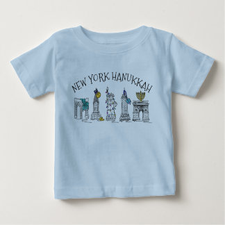 New York City Hanukkah NYC Jewish Holiday Chanukah Baby T-Shirt