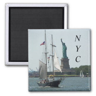 New York City Harbour Travel Photo Magnet