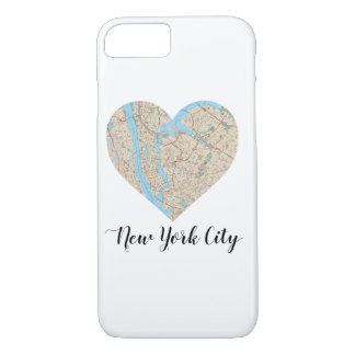 New York City Heart Map iPhone 7 Case