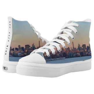 New York City Hieroglyphics High Tops Printed Shoes