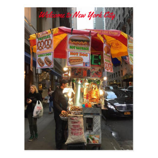 New York City Hot dog Stand Postcard