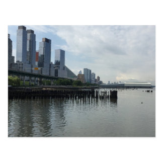 New York City Hudson River Reflection NYC Postcard