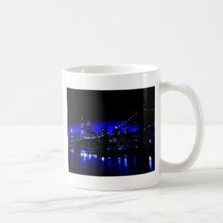 New York City in Blue Coffee Mug