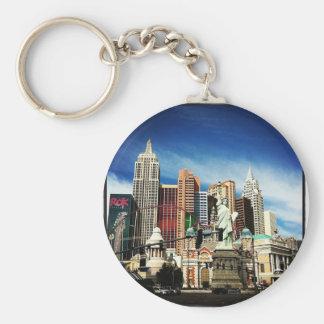 New York City in Las Vegas Basic Round Button Key Ring