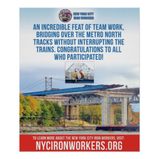 "New York City Iron Workers Poster, 20"" x 24"" Poster"