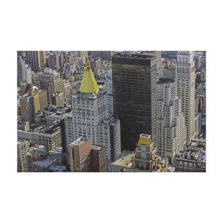 New York City Landscape of Buildings Canvas Prints