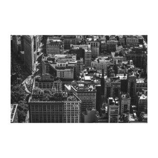 New York City Landscape with Flatiron Building Canvas Print
