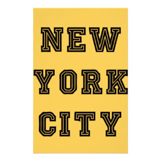 New York City Lettering Personalized Stationery