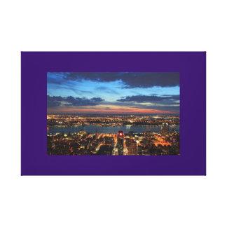 New York City Lights Twilight Evening Night Canvas Prints