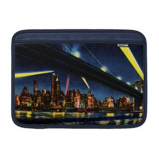 New York City Manhattan at Night Sleeve For MacBook Air
