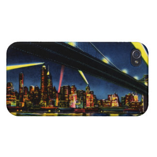 New York City Manhattan at Night iPhone 4 Cover