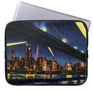 New York City Manhattan at Night Laptop Sleeve