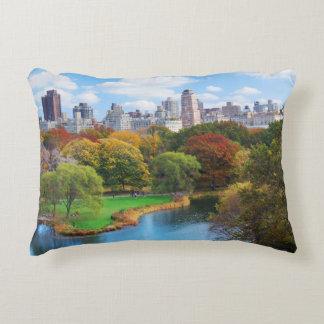 New York City Manhattan Central Park Panorama Accent Cushion
