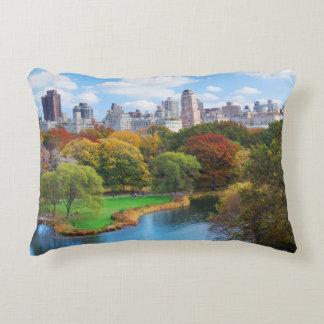 New York City Manhattan Central Park Panorama Decorative Cushion