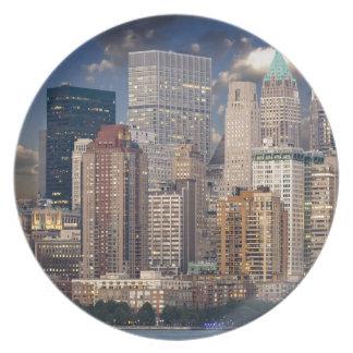 New York City Manhattan Party Plate