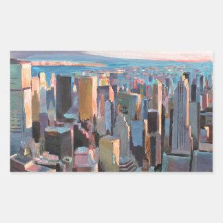 New York City  Manhattan Skyline In Warm Sunlight Sticker