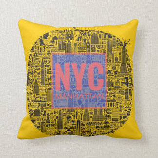 New York City Manhattan Throw Pillow