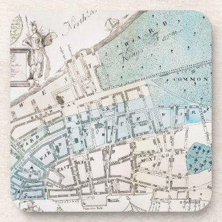 New York City Map, 1728 Coaster