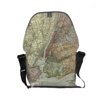 New York City Map Messenger Bag - Diaper Bag