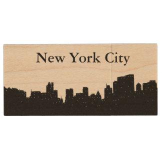 New York City Wood USB 3.0 Flash Drive