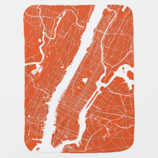 New York City Modern Map Baby Blanket