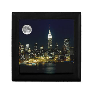 New York City Mooned Small Square Gift Box