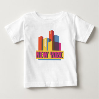 New York City | Neon Skyline Baby T-Shirt