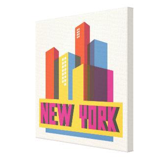 New York City | Neon Skyline Canvas Print