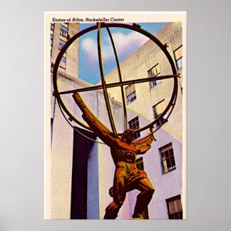 New York City, New York Atlas at the Rock 1940 Poster