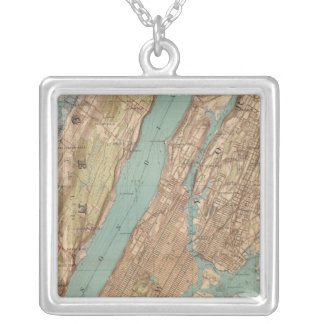 New York City, New York Silver Plated Necklace