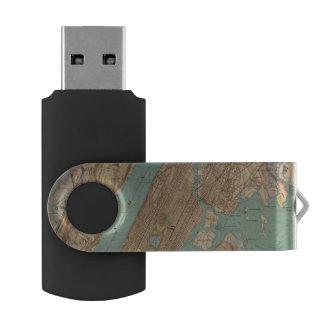 New York City, New York Swivel USB 2.0 Flash Drive