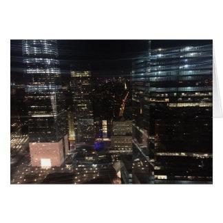 New York City Night NYC Manhattan Skyline Photo Card