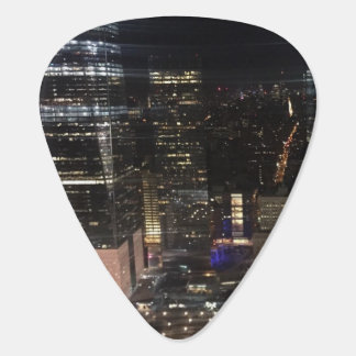 New York City Night NYC Skyline Manhattan Photo Plectrum