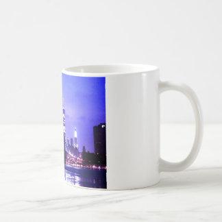 New York City Night Panorama Coffee Mug
